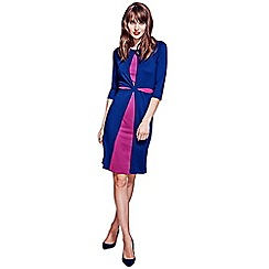 HotSquash - Navy dress with contrast cut-out