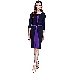 HotSquash - Black and purple double layered cross dress