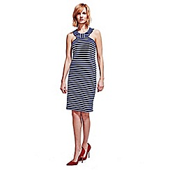 HotSquash - Navy & White Thames Bow Dress in Clever Fabric