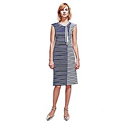 HotSquash - Navy & White Stripes Paris Bateau Dress in Easycare Fabric