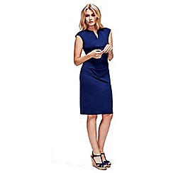 HotSquash - Navy Kensington V Cut Dress in Clever Fabric