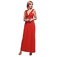 HotSquash - Red Twist Strap Maxi Dress in CoolFresh Fabric