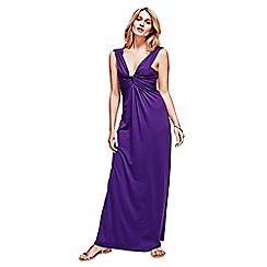 HotSquash - Purple Twist Strap Maxi Dress in CoolFresh Fabric
