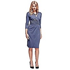 HotSquash - Grey v neck mock-wrap thermal dress