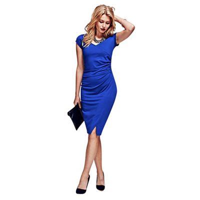 HotSquash Royal Blue Raglan Sleeve Dress in clever fabric -