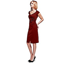 HotSquash - Burgundy Raglan Sleeve Dress in clever fabric