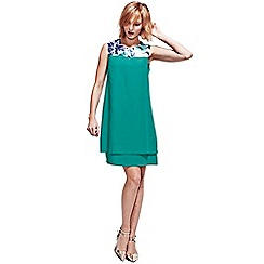 HotSquash - Turquoise Double Layered Dress in CoolFresh fabric