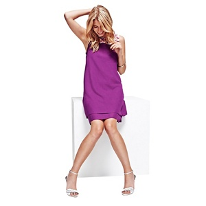 HotSquash Purple Double Layered Dress in CoolFresh Fabric