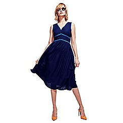 HotSquash - Navy Retro Crepe Sundress in CoolFresh Fabric