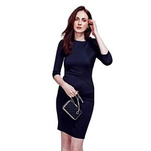 Plus Size Hotsquash Black Pimlico Ponte Dress