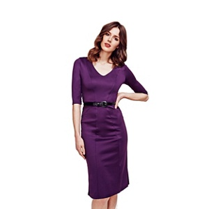Plus Size Hotsquash Damson Victoria Ponte Dress