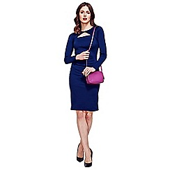 HotSquash - Navy Mock Cardi Jersey Dress in Clever Fabric