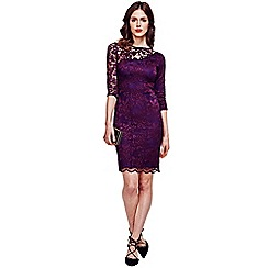 HotSquash - Purple One-Sleeved Thermal Lace Dress in Clever Fabric