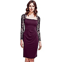 HotSquash - Damson Lace Sleeved Jersey Dress in Clever Fabric