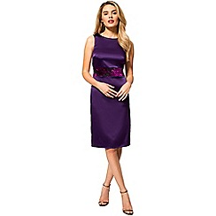 HotSquash - Purple silky 'Lucy' burnout waistband dress