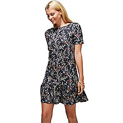 HotSquash - Oriental birds drop waist dress in cool fresh fabric