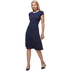 HotSquash - Navy smart summer dress in cool fresh fabric