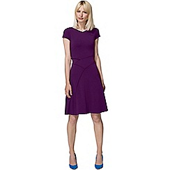 HotSquash - Purple smart summer dress in cool fresh fabric