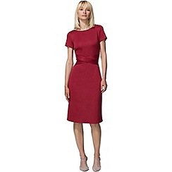 HotSquash - Red cross waist ponte dress in clever fabric
