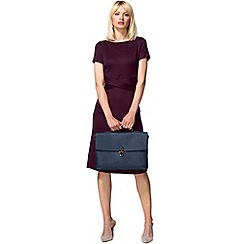 HotSquash - Damson cross waist ponte dress in clever fabric