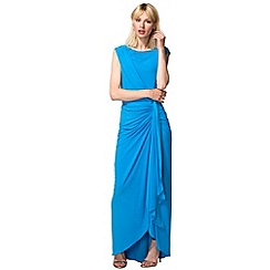 HotSquash - Light Blue Grecian Style Maxi Evening Gown
