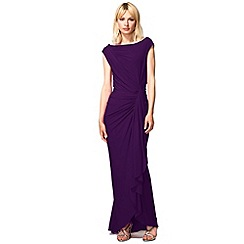 HotSquash - Purple Grecian Evening Dress in Clever Fabric