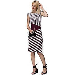 HotSquash - Damson cap sleeve contrast dress in clever fabric