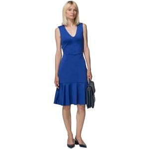 HotSquash Royal blue drop waist ponte dress in clever fabric