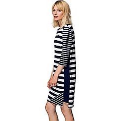 HotSquash - Navy striped york dress in clever fabric