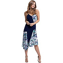 HotSquash - Navy spaghetti strap floral dress in coolfresh fabric
