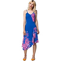 HotSquash - Cobalt spaghetti strap floral dress in clever fabric