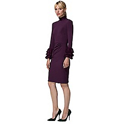 HotSquash - Damson High Neck Lace Detail Dress in Clever Fabric