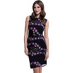 HotSquash - Purple sequin sleeveless kneelength dress