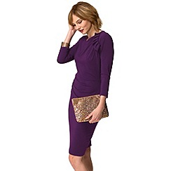HotSquash - Purple ruffle jersey dress in thermal fabric