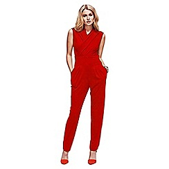 HotSquash - Red Jumpsuit in Clever Fabric