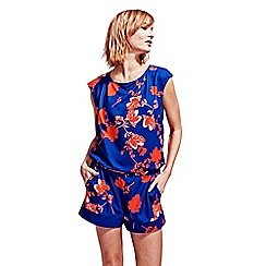 HotSquash - Red Flowers Playsuit in CoolFresh Fabric