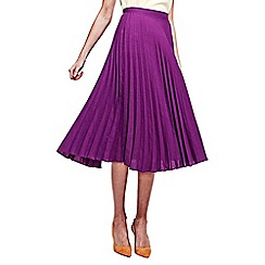 HotSquash - Purple Sunray Pleat Skirt in clever fabric