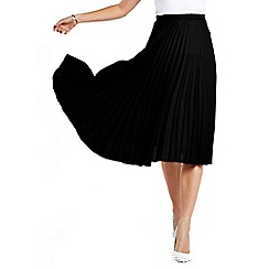 HotSquash - Black pleat skirt in clever fabric