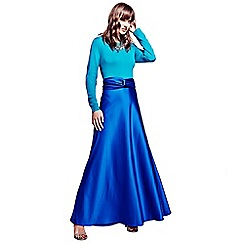 HotSquash - Deep blue silky maxi skirt