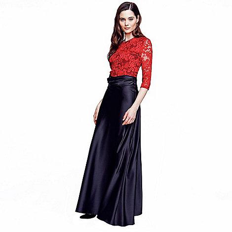 hotsquash black silky maxi skirt debenhams