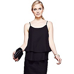 HotSquash - Black double layered camisole top