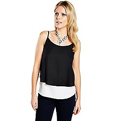 HotSquash - Black & white double layered camisole top