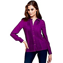 HotSquash - Purple long sleeved blouse with CleverTech