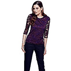 HotSquash - Purple long sleeved lace top