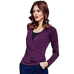 HotSquash - Damson Crossover Long-Sleeved Top in ThinHeat Fabric