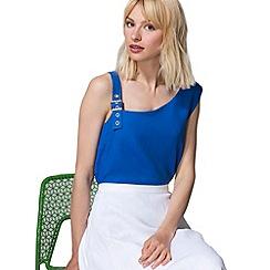 HotSquash - Cobalt buckle shoulder top in  fabric