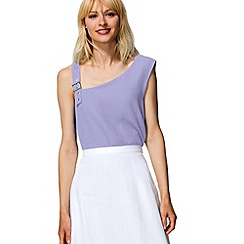 HotSquash - Lilac buckle shoulder top in  fabric