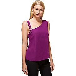 HotSquash - Purple buckle shoulder top in  fabric
