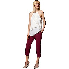 HotSquash - Burgundy easy care capris in clever fabric