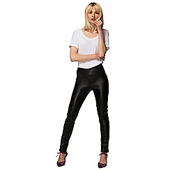 HotSquash - Black Leather Look Skinny Fit Trousers